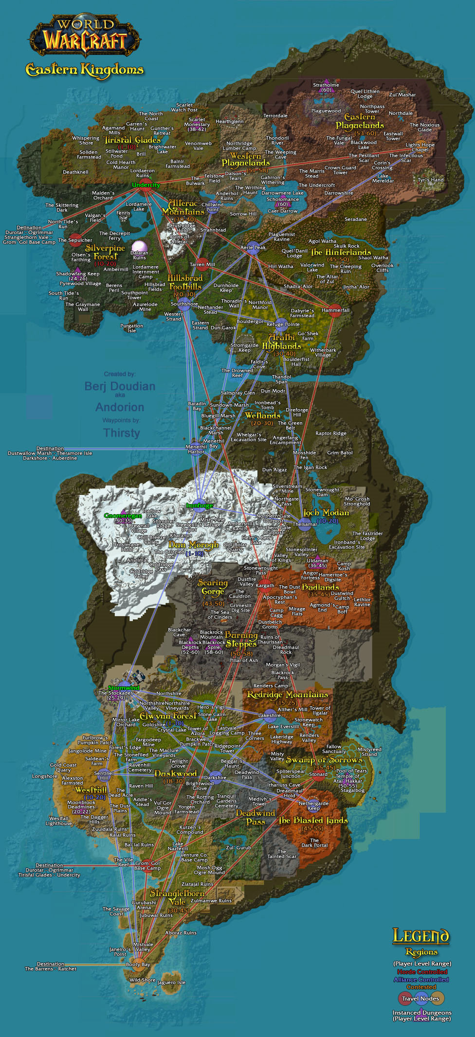 Wow Flight Paths Eastern Kingdoms And Kalimdor Maps Conrad