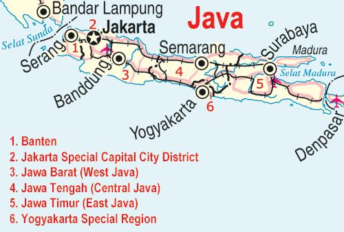 World Map Java Island