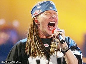Axel Rose of Guns N' Roses
