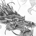 dragon-head-chinese-bw