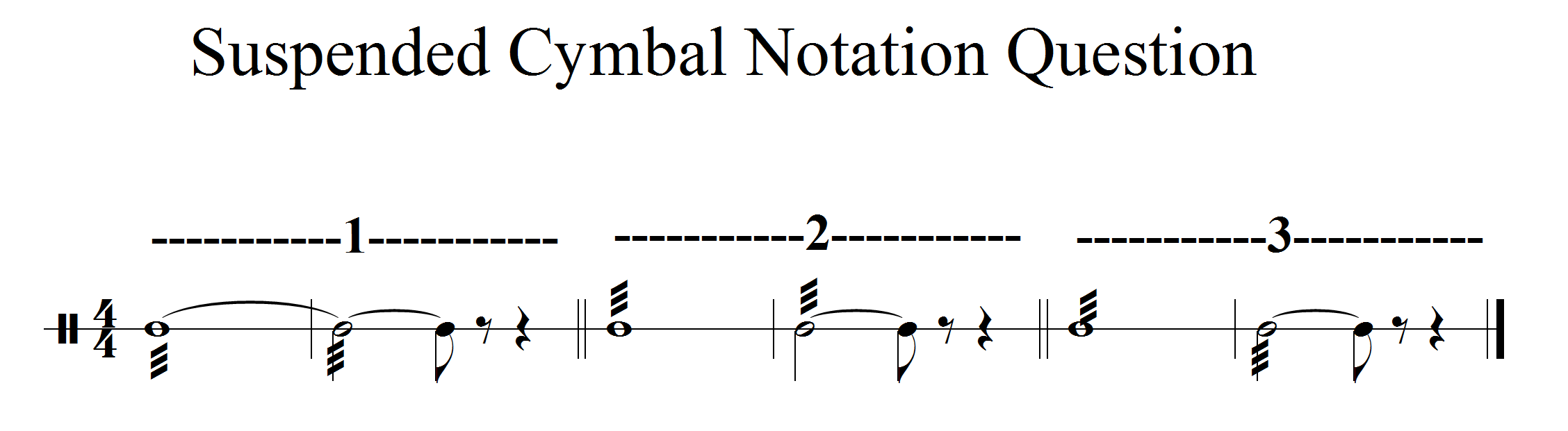 Orchestration notation and performance triangles tambourine suspended cymbal notation biocorpaavc Gallery