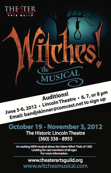 Witches The Musical Auditions June 5 6 2012 Mount Vernon WA