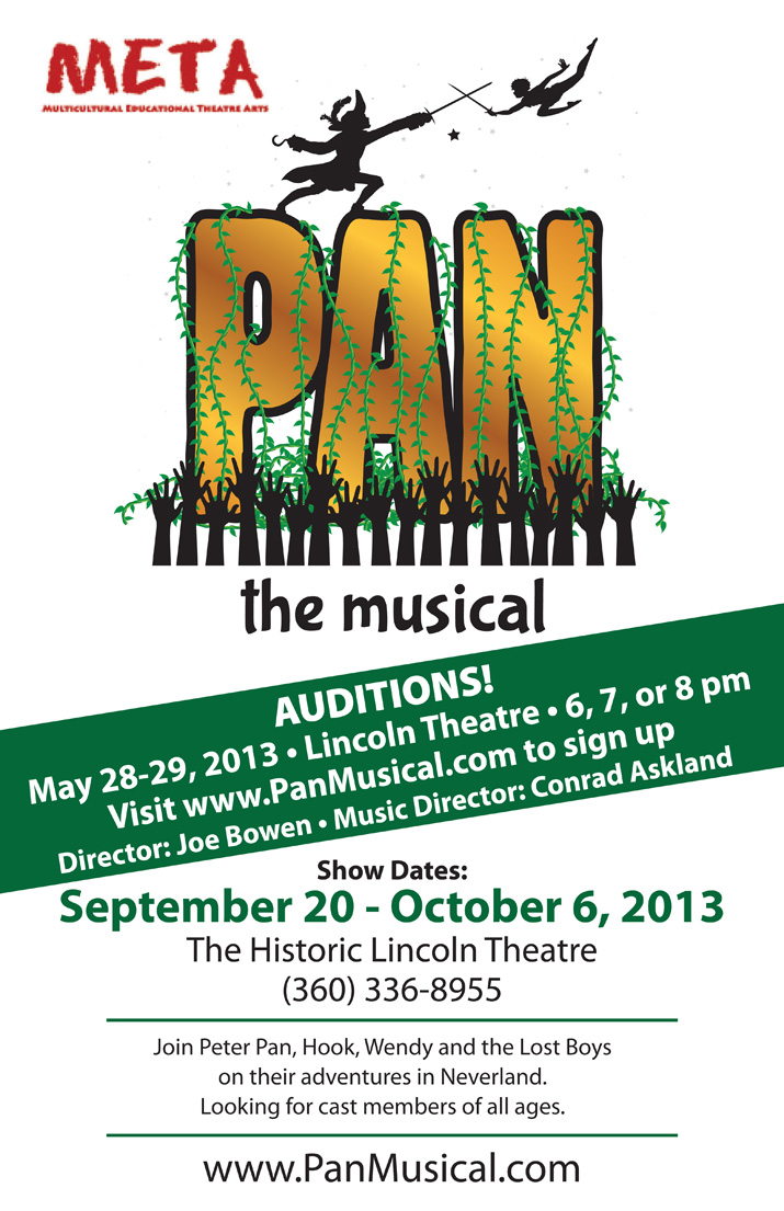Auditions For PAN The Musical May 2013 Conrad Askland Blog