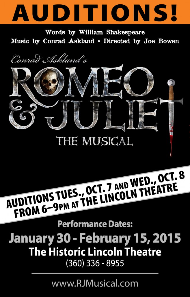 Romeo & Juliet Auditions Oct. 7-8, 2014