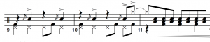 Drum-notation-hi-hat-pedal
